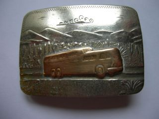 Greyhound Bus Drivers Belt Buckle 40s 50 s German Silver