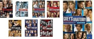 Greys Anatomy DVD Set Seasons 1 2 3 4 5 6 7 8 Every Season Every