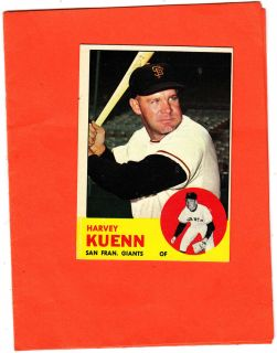 Topps Baseball Set Harvey Kuenn San Francisco Giants 30 N Mint