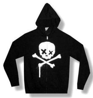 Green Day Royal Skull Black Zip Hoodie Sweatshirt New Adult Medium M
