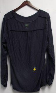 Logo by Lori Goldstein Sz XL Long Sleeve V Neck Top Slate Grey New 2nd