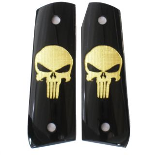 Ruger 22 45 RP Grips Duragrips Smooth Punisher Black Gold