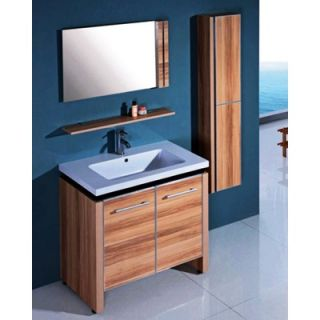Legion Furniture 31.5 Single Bathroom Vanity Set with Mirror in Light
