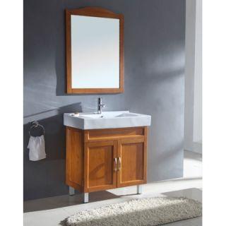 Virtu Ultra Modern Ceanna 55 Wall Mounted Single Bathroom Vanity Set