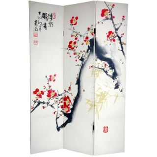 Oriental Furniture 6Feet Tall Double Sided Cherry Blossoms and Love