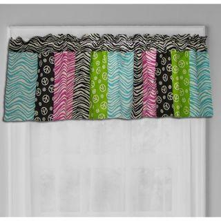 Sweet Jojo Designs Funky Zebra Window Valance   Valance Zebra PK