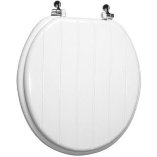 Bemis Round Molded Wood Lighthouse Design Toilet Seat with Easy Clean