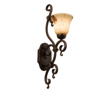 Kalco Vine One Light Wall Sconce with Natural Penshell Shade in Bark
