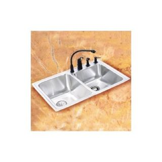 Elkay 32 x 21 Double Bowl Undermount Stainless Steel Kitchen Sink