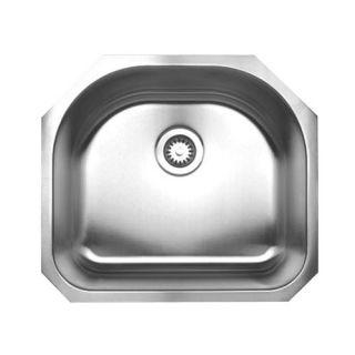 Vigo Single Bowl D shaped Stainless Steel Undermount Kitchen Sink