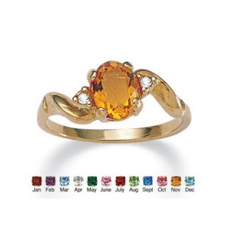 Palm Beach Jewelry 14k Gold Plated Simulated Birthstone Ring