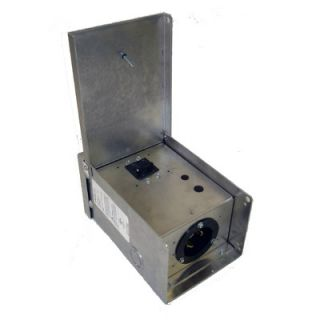 Gen Tran 30 Amp 3 Prong Aluminum Power Inlet Box w/Circuit Breaker