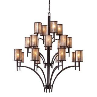 Elk Lighting Barringer 20 Light Chandelier and Shade   15037/8 8 4