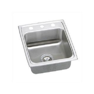 Elkay Lustertone Gourmet 17 x 20 Stainless Steel Sink