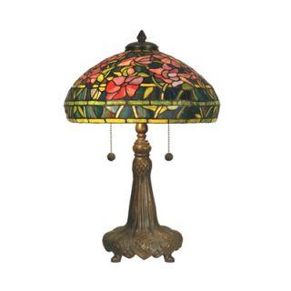 Dale Tiffany 21 Two Light Table Lamp in Dark Antique Bronze Verde