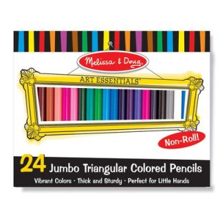 and Doug Jumbo Triangular Colored Pencils (Set of 24)