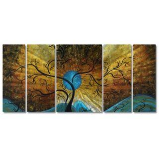 My Walls Blue Moon by Megan Duncanson, Abstract Wall Art   23.5 x 52
