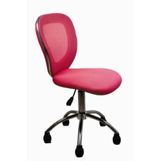 Techni Mobili Awake Height Adjustable Mesh Task Chair   RTA Q030 PNK