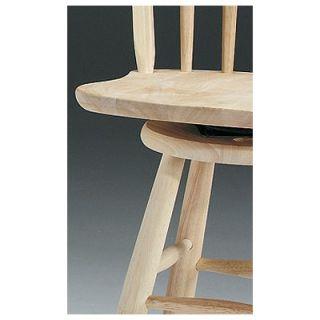 Solid Medium Oak Windsor Back Swivel Bar Height Bar Stool