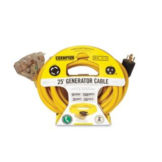 Champion Power Equipment 25 Generator Power Cord in Yellow L14 30P to