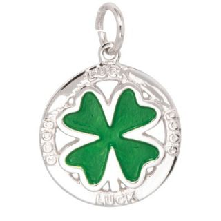 EZ Charms Sterling Silver Good Luck Clover Charm   SCHA0938