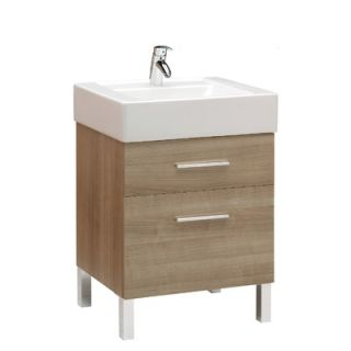 Bissonnet Universal 23.6 Bathroom Vanity Set in Cappuccino