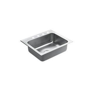 Moen Camelot 25 x 18 Unequal Double Bowl Drop In Sink