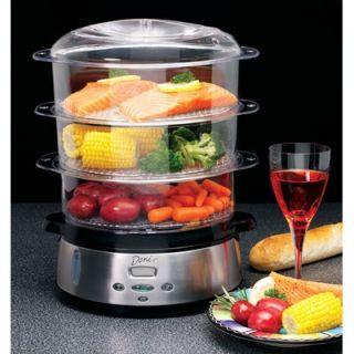 Deni 3 Tier Food Steamer (Stainless Steel)