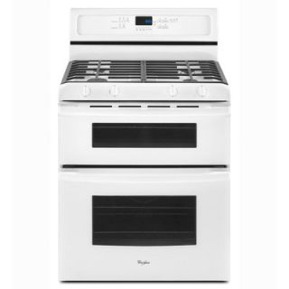 Whirlpool 30 Self Cleaning Double Oven Freestanding Gas Range