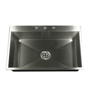 Nantucket Sinks Self Rimming 33 Stainless Steel Single Bowl Kitchen