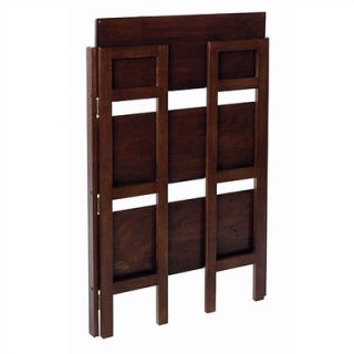 Winsome Basics 39 H Antique Walnut Folding Three Tier Bookshelf