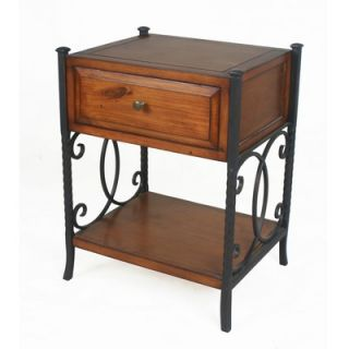 Privilege Country Wood 1 Drawer Nightstand