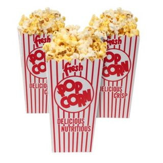 Great Northern Popcorn 50 Movie Theater Popcorn Box with Open Top