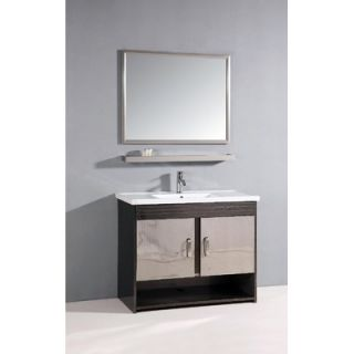 Legion Furniture 39.5 Single Bathroom Vanity Set with Mirror in