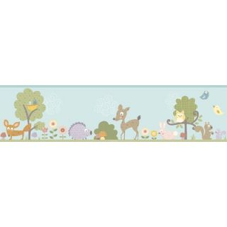 Room Mates Studio Designs Woodland Animals Wall Border   RMK1420BCS