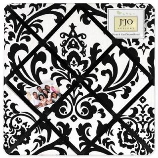 Sweet Jojo Designs Isabella Fabric Memo Board in Black / White