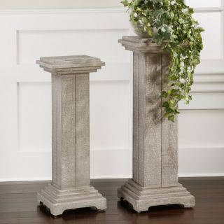 White Plant Stands & Telephone Tables