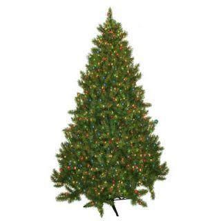 General Foam Plastics Evergreen Fir Prelit Christmas Tree with 700
