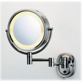 Jerdon Lighted 5X Magnifying Wall Mount Mirror
