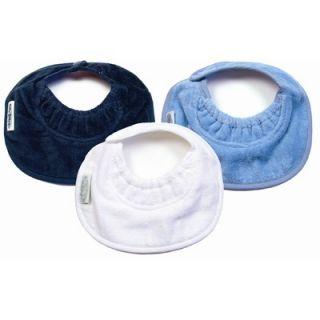 Silly Billyz Boy Newborn Bibs 3 Pack in Navy / White / Pale Blue