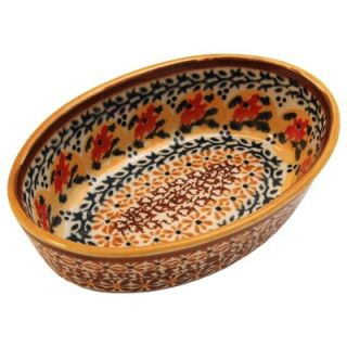 Polish Pottery 6 Oval Baking Pan   Pattern DU70   703 DU70