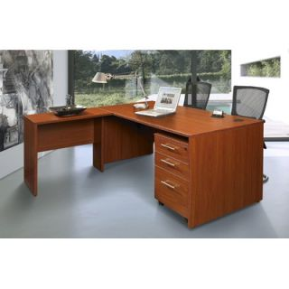 The Ergo Office Pro X   L Shaped Executive Desk with Mobile Pedestal