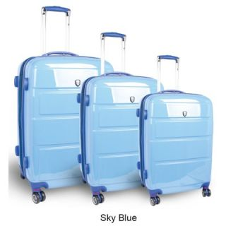 World Vanesta 3 Piece Polycarbonate Expandable Spinner Luggage Set