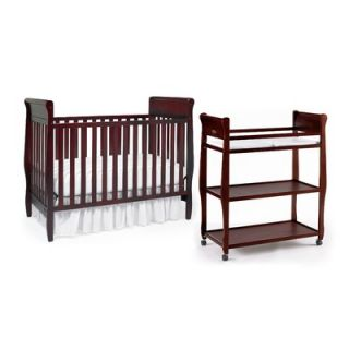 Graco Sarah Classic Two Piece Convertible Crib Set in Cherry