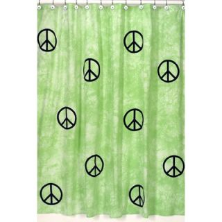Sweet Jojo Designs Peace Green Shower Curtain   ShowerCurtain Peace