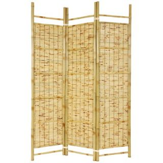 Oriental Furniture Burnt Bamboo Shoji Room Divider