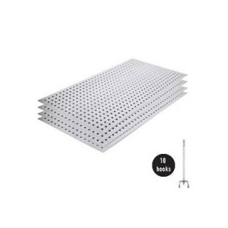 AlligatorBoard Metal Pegboard Panel Kit without Flange