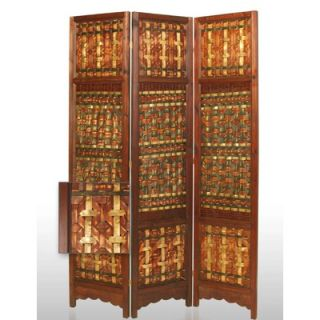 Screen Gems Palm Brass Decorative Room Divider