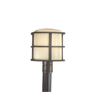 Minka Lavery One Light Outdoor Post Lantern in Iron Oxide   72136
