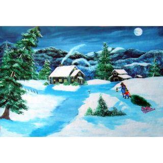 Custom Printed Rugs Seasonal Holiday Christmas Tree Doormat   DM 101